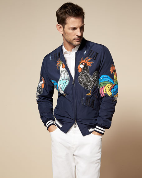 A rooster jacket by Dolce & Gabbana
