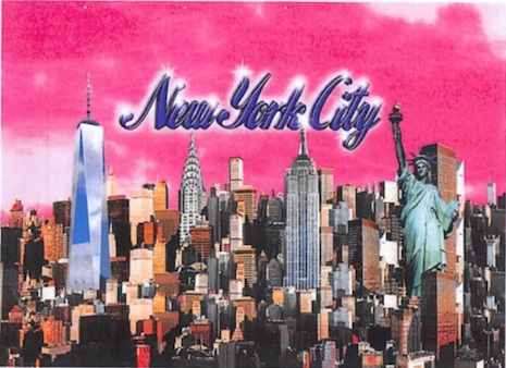 City Merchandise's design for its New York skyline items
