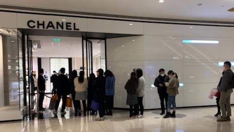Shoppers return to Chanel Shanghai on March 8th. Image courtesy of Agility Research and Strategy