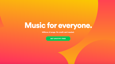 Spotify has revolutionized music consumption with ad-supported and ad-free streaming with a monthly subscription. Image credit: Spotify