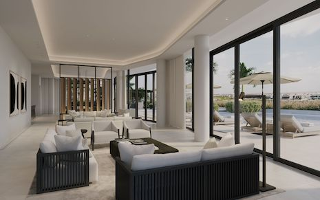 Minimalist living room designed by Alix Lawson. Image courtesy of Alix Lawson