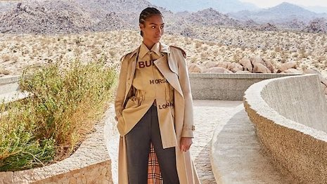 Burberry spring looks from Farfetch. Image credit: Farfetch