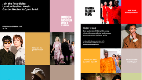London Fashion Week debuted its first all-digital, gender-neutral event. Image courtesy of Wednesday Agency