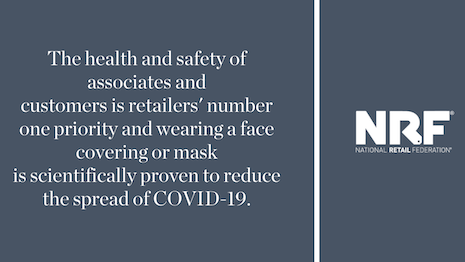 The United States is still facing an uphill battle over the COVID-19 coronavirus as cases pile up, many of them due to inadequate social distancing and refusal to wear face masks. This has turned a health issue into an idealogical tussle, forcing the National Retail Association and its ilk to step in where the federal government will not. Image credit: National Retail Federation